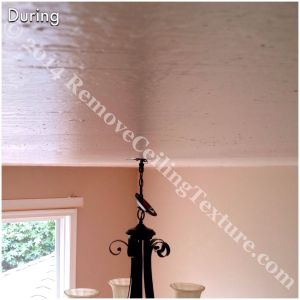 Covering Popcorn Ceilings: During photo - dining room