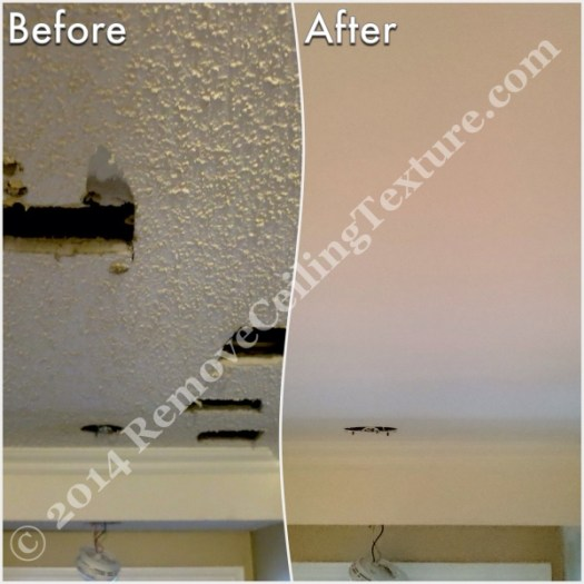Ceiling Texture Removal at 1st Ave Vancouver - Hallway