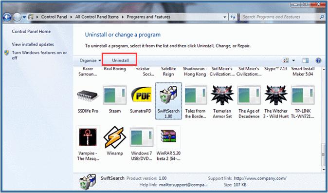uninstall-SwiftSearch-from-Windows-Vista3