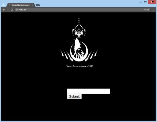eliminare Venis ransomware