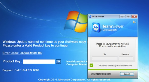 TechSupportScam Screenlocker delete