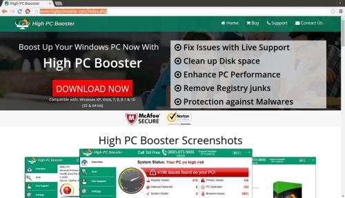 rimuovere High PC Booster