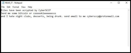 CyberSCCP Crypto Ransomware