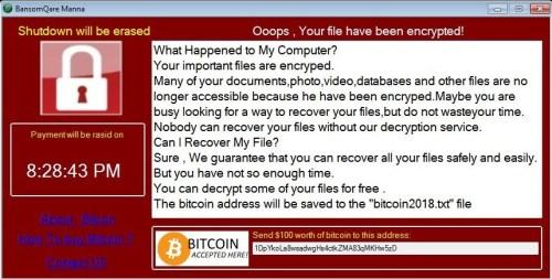Lösegeldnote von BansomQare Manna Ransomware