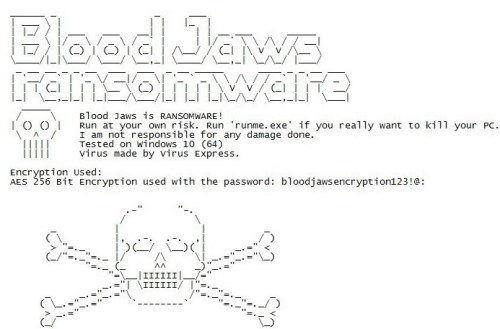 Löschen Sie BloodJaws Ransomware