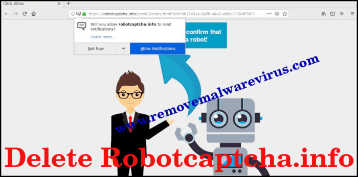 Löschen Sie Robotcaptcha.info