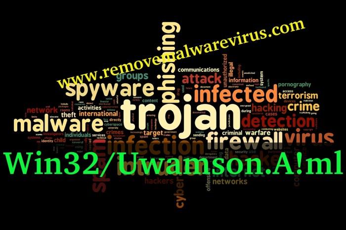 Löschen Sie Win32 / Uwamson.A! Ml