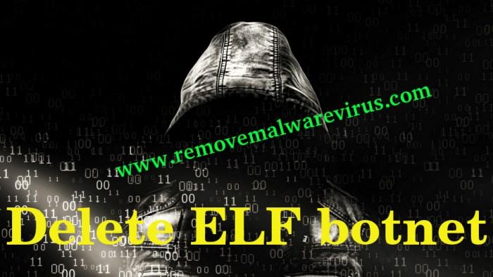 Löschen Sie das ELF-Botnetz