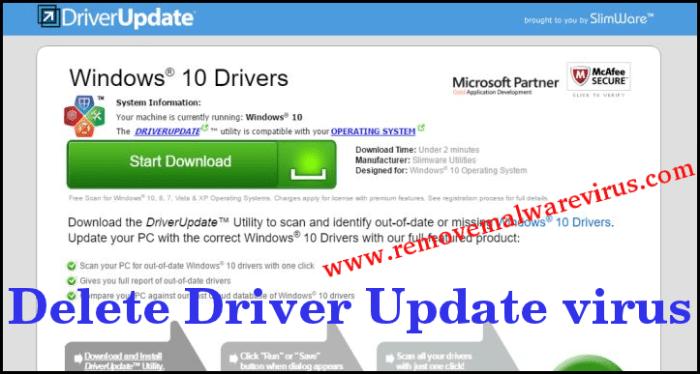 Elimina il driver Update virus
