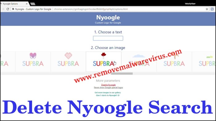 Supprimer Nyoogle Search