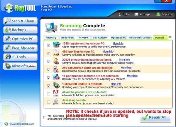 Regtool removal software