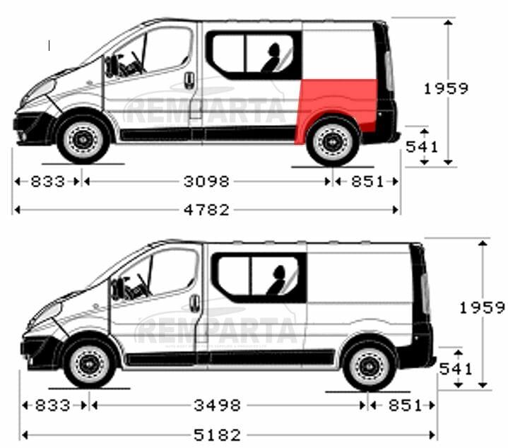 Renault Trafic/Opel Vivaro/Nissan Primastar (2001- 2014