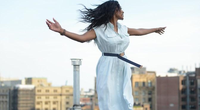 Quelques photos de la séance photo avec Ève la semaine dernière sur le toit d'un immeuble du Vieux Montréal.