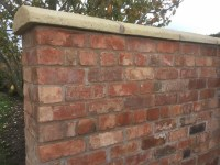 Reclaimed Wirecut Brick Garden Wall