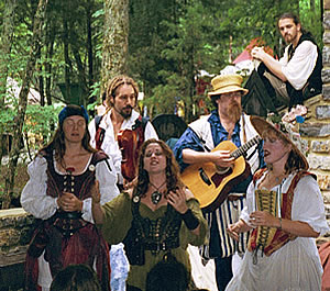 Naughty Nymphs singing at the Tennessee Renaissance Festival