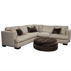 Grey Tweed Sectional Sofa Cotton Duck Slipcover Linen Sofas/loveseats - Renaissance Home