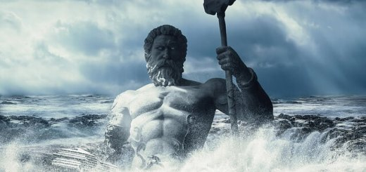 image of poseidon emerging from the sea