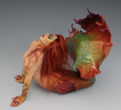 Autumn Mermaid by Renata Jansen One of a Kind OOAK 3D