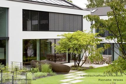 moderner Garten mit Grsern Gartenplanung Renate Waas
