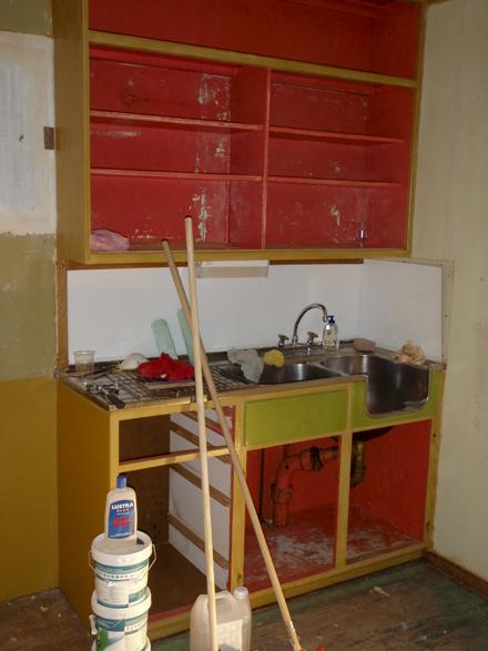 Kjøkkenet har sett betre dagar...