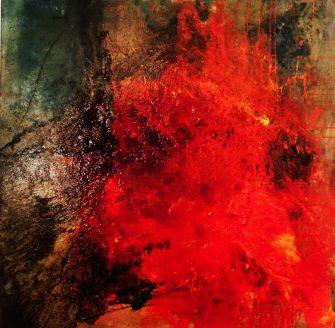 """""""Fire"""" Klaverlack 100 x 100"""
