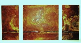 Stahlblech, 3-teilig, ca. 60 x 180