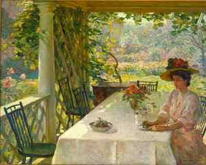 William Chadwick, On the Porch, c. 1908, Florence Griswold Museum.