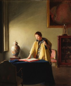 William McGregor Paxton Woman with Book c1910