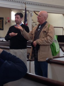 Jim Sinclair, right, and Kendall Crilly, Music Director, Center Church