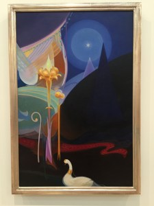 Agnes Pelton, Untitled, 1931 she is new to me, and we are invited to view the work in light of Stella's masterwork