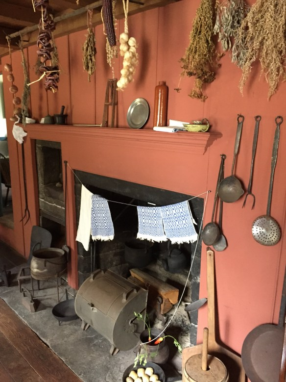 Note the 'tin kitchen' rotisserie on the hearth