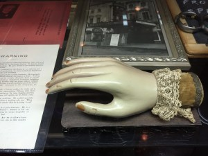 Hand from a seance, used to tap out the answer from the spirit