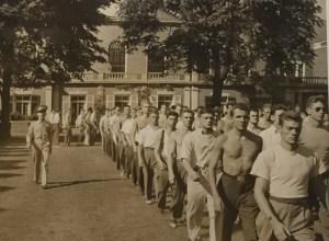 Officer training program at Yale, 1942.  Photo by Samuel Kravitt.
