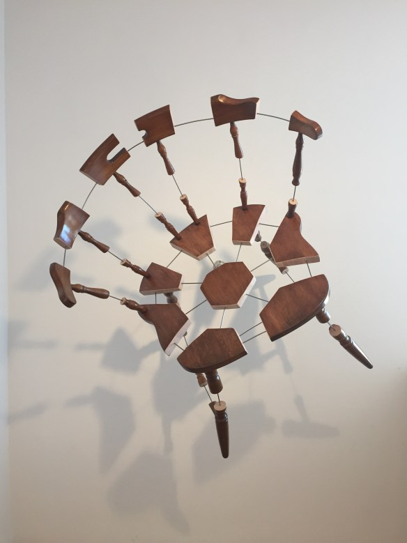 Robin Mandel, Unrealized Gain, 2015, wood, metal