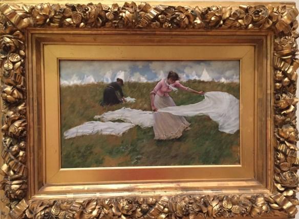 Charles Curran, A Breezy Day, 1887, PAFA