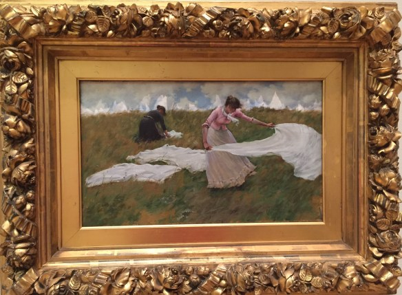Charles Curran, A Breezy Day, 1887, PAFA
