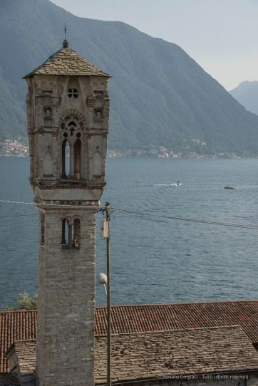 Campanile di Santa Maddalena. Ossuccio Lario, 27 luglio 2015. Nikon D810, 62.0mm (24.0-120 mm ƒ/2.8) 1/125sec ƒ/8 ISO 64