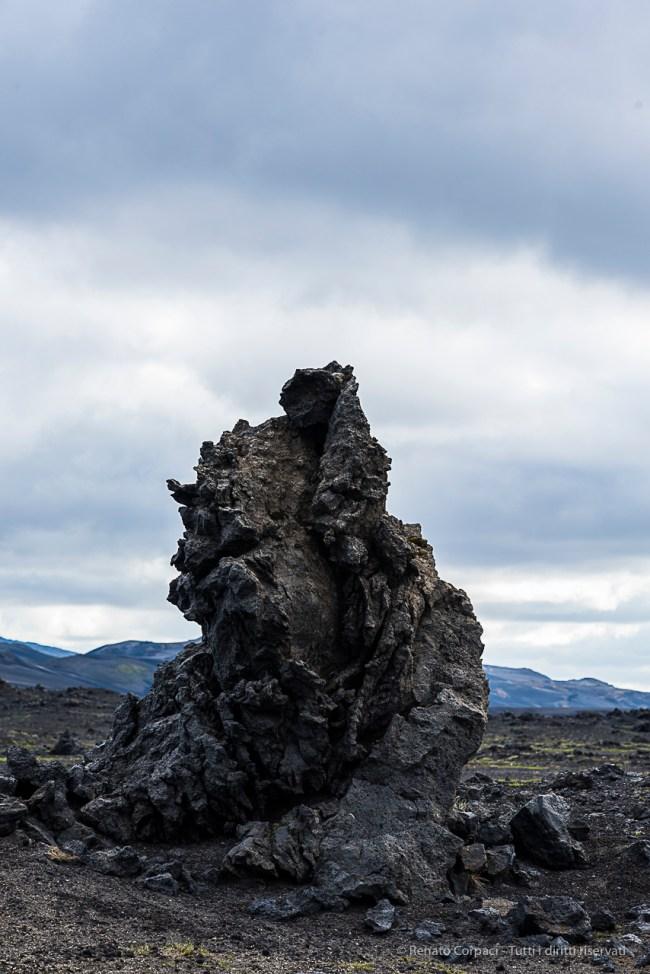 Lava sculpture on roadside. Nikon D810, 85 mm (85 mm ƒ/1.4) 1/250 sec ƒ/8 ISO 250