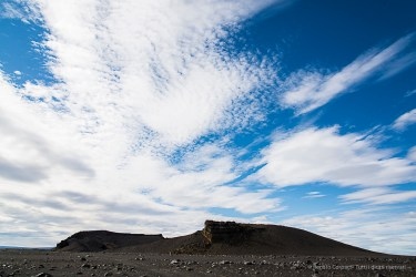 The caldera of the Hrossaborg appears on the distance. Nikon D810, 24 mm (24-120.0 mm ƒ/4) 1/100 sec ƒ/11 ISO 64