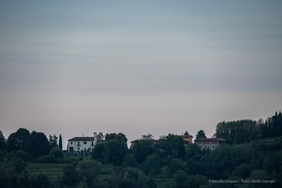 "07:29:37. San Bernardo church on the Montevecchia hill crest. Nikon D750, 400mm (80-400.0mm ƒ/4.5-5.6) 1/25"" ƒ/8 ISO 100"