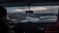 A shot trough the windshield on Road 361 Vallarvegur