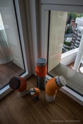 """""""Up In The Sky"""", l'esibizione curata dalla Galleria Rossana Orlandi in un attico del complesso disegnato da Daniel Libeskind nel comprensorio della ex-Fiera di Milano. Nikon D810 24 mm (24 mm ƒ/1,4) 1/60"""" ƒ/3.2 ISO 64"""