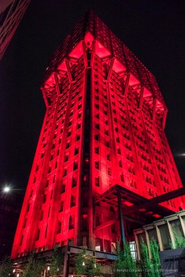 "Torre Velasca, an installation by AUDI Motor Company. Nikon D810 24mm (24 mm ƒ/1.4) 1/200"" ƒ/3.2 ISO 12800"