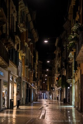 "Via Mazzini at night. Nikon D750 105 mm (80-400.0 mm ƒ/4.5-5.6) 1/200"" ƒ/4.8 ISO 6400"