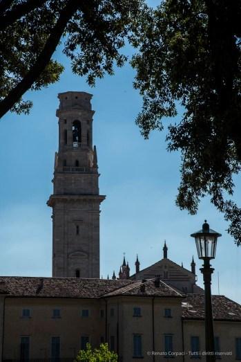 "The Duomo Belfry from across the river Adige. Nikon D810 100 mm (24-120.0 mm ƒ/4) 1/200"" ƒ/13 ISO 100"