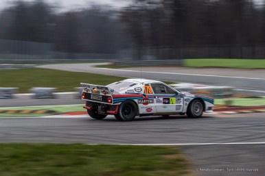 La coppia Marco Bianchini-Silvio Stefanelli su Lancia Rally 037, vincitori tra le auto storiche.