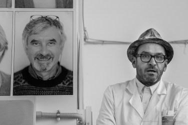 "Settimio Benedusi, photographer, during the setting-up of his show ""Io Non Esiste"", December 2016. Nikon D810, 120 mm (24-120.0 mm ƒ/4) 1/160"" ƒ/8 ISO 3200"
