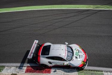 "Michael Christensen on the official Porsche 911 RSR at the Parabolica. Nikon D810, 20 mm (20 mm ƒ/1.8) 1/1250"" ƒ/4 ISO 64"