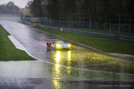 "Stefan Mucke on Ford GT entering a rainy Second Chicane.. Nikon D810, 105 mm (105.0 mm ƒ/2.8) 1/160"" ƒ/2.8 ISO 1600"