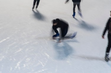 "Skating rink in Milano, Piazza Lombardia. December 2016. Nikon D750, 24 mm (24-120.0"" ƒ/4) 1/5"" ƒ/11 ISO 400"